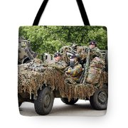 Vw Iltis Jeeps Used By Scout Or Recce Tote Bag by Luc De Jaeger