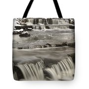 Waterfalls With Fresh Snow Thunder Bay Tote Bag by Susan Dykstra