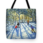 Woodland In Winter Tote Bag by Andrew Macara