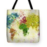 World Map Painting Tote Bag by Setsiri Silapasuwanchai