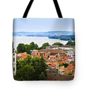 Zemun Rooftops In Belgrade Tote Bag by Elena Elisseeva