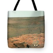 Panoramic View Of Mars Tote Bag by Stocktrek Images