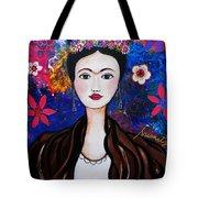 Frida Kahlo Tote Bag by Pristine Cartera Turkus