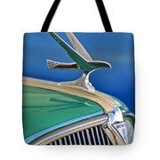 1935 Hudson Touring Sedan Hood Ornament Tote Bag by Jill Reger