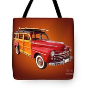 1947 Woody Tote Bag by Jim Carrell