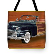 1948 Chrysler Town And Country Tote Bag by Jack Pumphrey
