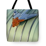1954 Pontiac Chieftain Hood Ornament Tote Bag by Gordon Dean II