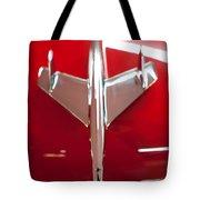 1955 Chevy Belair Hood Ornament Tote Bag by Sebastian Musial