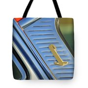 1955 Lincoln Capri Emblem Tote Bag by Jill Reger