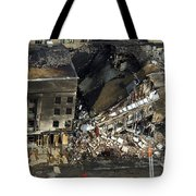Aerial View Of The Terrorist Attack Tote Bag by Stocktrek Images