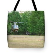 An Agusta A109 Helicopter Tote Bag by Luc De Jaeger