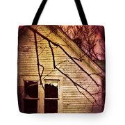 Creepy Abandoned House Tote Bag by Jill Battaglia