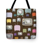 retro TV pattern  Tote Bag by Setsiri Silapasuwanchai