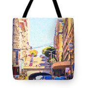 Stockton Street Tunnel in San Francisco Tote Bag by Wingsdomain Art and Photography