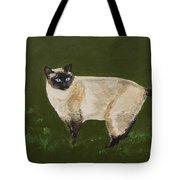 Sweetest Siamese Tote Bag by Leslie Allen
