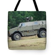 The Dingo 2 In Use By The Belgian Army Tote Bag by Luc De Jaeger