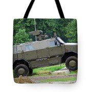 The Dingo 2 Mppv Of The Belgian Army Tote Bag by Luc De Jaeger