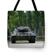 The Leopard 1a5 Mbt Of The Belgian Army Tote Bag by Luc De Jaeger
