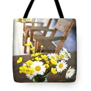 Wildflowers Bouquet At Cottage Tote Bag by Elena Elisseeva
