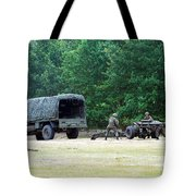 A Belgian Artillery Unit Setting Tote Bag by Luc De Jaeger