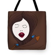 A Woman Tote Bag by Frank Tschakert