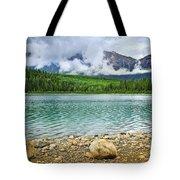 Mountain lake in Jasper National Park Tote Bag by Elena Elisseeva
