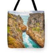 Pancake Rocks Tote Bag by MotHaiBaPhoto Prints