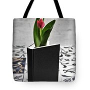 Tulip In A Book Tote Bag by Joana Kruse