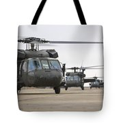 Uh-60 Black Hawks Taxis Tote Bag by Terry Moore