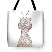 Fashion Sketch Tote Bag by Frank Tschakert