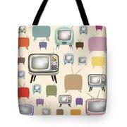 retro TV pattern  Tote Bag by Setsiri Silapasuwanchai