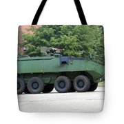 The Piranha Iiic Of The Belgian Army Tote Bag by Luc De Jaeger