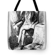 Charles Dickens, English Author Tote Bag by Photo Researchers