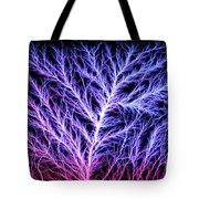 Electrical Discharge Lichtenberg Figure Tote Bag by Ted Kinsman