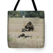 Evacuation Of A Wounded Soldier By An Tote Bag by Luc De Jaeger