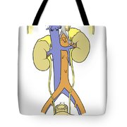 Illustration Of Female Urinary System Tote Bag by Science Source
