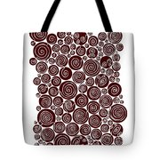 Red Abstract Tote Bag by Frank Tschakert
