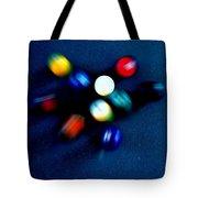 9 Ball Break Tote Bag by Nick Kloepping
