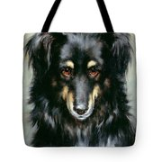A Black And Tan Collie Tote Bag by Robert Morley