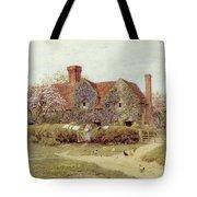 A Buckinghamshire House At Penstreet Tote Bag by Helen Allingham