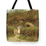 A Cottage At Freshwater Isle Of Wight Tote Bag by Helen Allingham