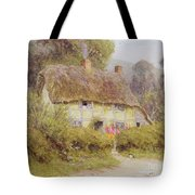 A Country Cottage Tote Bag by Helen Allingham