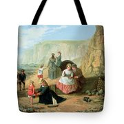 A Day At The Seaside Tote Bag by William Scott
