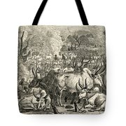 A Dinka Cattle Park, Southern Sudan Tote Bag by Ken Welsh