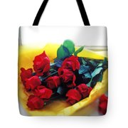A Dozen Red Roses Tote Bag by Garry Gay
