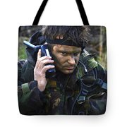 A Dutch Patrol Commander Communicates Tote Bag by Andrew Chittock