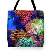 A Flash Of Life And Color Tote Bag by John Lautermilch