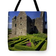 A Garden In Front Of Tully Castle Near Tote Bag by The Irish Image Collection