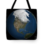 A Global View Over North America Tote Bag by Stocktrek Images
