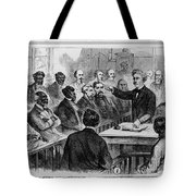 A Jury Of Whites And Blacks Tote Bag by Photo Researchers
